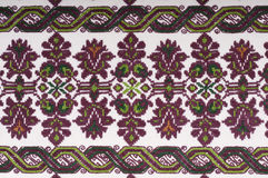 Vintage Embroidery Textile Design. Embroidered handmade design with geometric shapes and stylized flowers. This is used mostly on clothing in Eastern Europe royalty free stock images