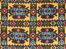 Vintage Embroidery Textile Design. Embroidered handmade design with geometric shapes and stylized flowers. This is used mostly on clothing in Eastern Europe royalty free stock photography