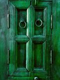 Vintage Emerald Green Painted Wooden Frame. An Aged Vintage Emerald Green Painted Wooden Frame Stock Photos