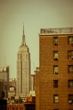 Vintage Empire State Building in New York City, Manhattan Stock Photos