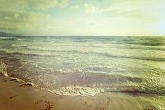 Vintage empty beach Stock Image