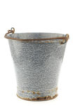 Vintage empty grey enamel bucket Royalty Free Stock Photos
