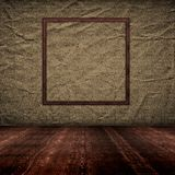 Vintage empty interior with grunge paper wall Royalty Free Stock Photos