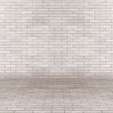 Vintage Empty interior perspective with brick wall Stock Photography