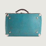 Vintage empty leather suitcase. Royalty Free Stock Photography