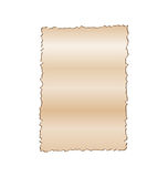Vintage empty paper isolated on white background Royalty Free Stock Photography