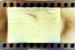 Vintage empty sepia film strip frame. Vintage sepia film strip frame Stock Image