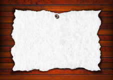 Vintage Empty White Paper Royalty Free Stock Image