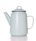 Vintage enamel coffee pot Stock Photos