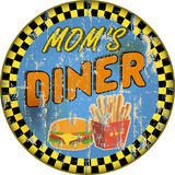 Vintage enamel diner sign, retro style, vector illustration Royalty Free Stock Photography