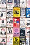 Vintage enamel signs at a shop at Portobello Road, London, UK Royalty Free Stock Photography