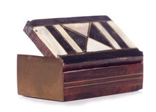 Vintage enamel snuff box Royalty Free Stock Photography