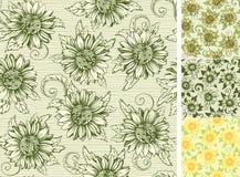 Vintage Endless Floral Backgrounds Stock Images
