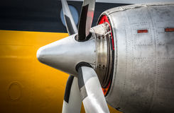Vintage engine close up. Close up of a vintage aircraft engine Royalty Free Stock Images