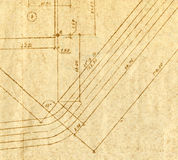 Vintage engineering chart Stock Image