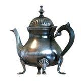 Vintage English style coffee pot isolated on white . Back versio Stock Photos