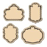 Vintage Engrave Art Deco Frame Set Stock Photos
