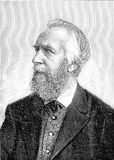Ernst Haeckel, German naturalist, vintage portrait. Vintage engraved portrait of Ernst Haeckel, German naturalist and artist, famous for his multicolor Stock Photography