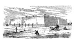 He Murray Hill Reservoir in New York City, vintage engraving. Vintage engraving of the Murray Hill Reservoir providing water to citizens of New York City. Built Stock Photos