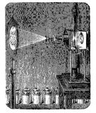 Vintage engraving, photoelectric microscope Stock Image