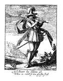 Vintage engraving of thirty years war army costumes Stock Photo