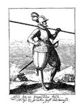Vintage engraving of thirty years war army costumes Royalty Free Stock Photos