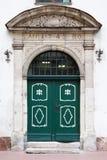 Vintage Entrance door in old Riga, Latvia. Stock Photos