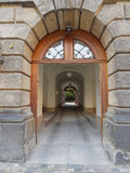 Vintage entrance and secret yard, Dresden Germany Royalty Free Stock Photos