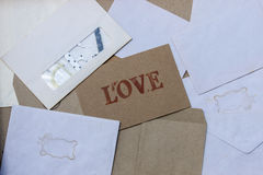 Vintage envelope. With love card Stock Image