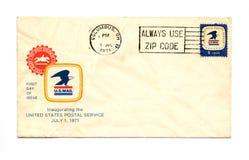 Vintage Envelope. A 1971 vintage envelope with canceled US 8 cent stamp Royalty Free Stock Photo