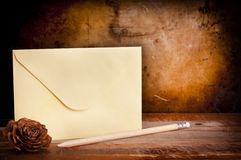 Vintage Envelope Background Stock Images