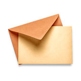 Vintage envelope with card Royalty Free Stock Image