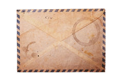 Vintage envelope isolated. Royalty Free Stock Photo