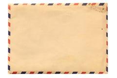 Vintage envelope isolated on white Royalty Free Stock Photo
