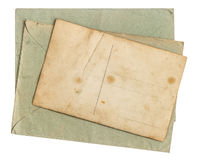 Vintage envelope letter and postcard Stock Photo