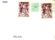 Vintage envelope Royalty Free Stock Image