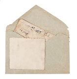 Vintage envelope with old postcards Stock Photography