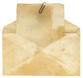 Vintage Envelope and Paper Royalty Free Stock Images