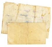Vintage Envelope and Paper Royalty Free Stock Photography