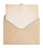 Vintage envelope and paper. Stock Image