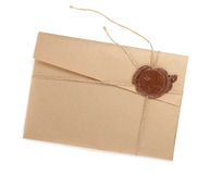Vintage envelope with stamp Stock Photography