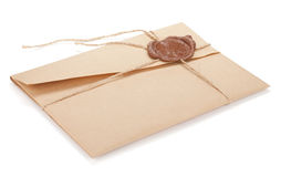Vintage envelope with stamp Royalty Free Stock Photo