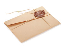Vintage envelope with stamp Royalty Free Stock Images