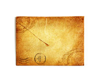 Vintage envelope on white Royalty Free Stock Photography