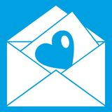 Vintage envelopes and heart icon white Royalty Free Stock Photography