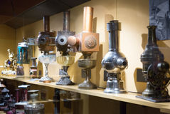Vintage equipment in Museum of Cinema  in Girona Royalty Free Stock Images