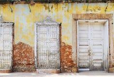 Vintage Eroded Facade In Trinidad, Cuba Royalty Free Stock Photo
