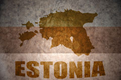 Vintage estonia map Royalty Free Stock Photography