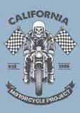 Vintage et affiche texturisée de garage de moto Images libres de droits