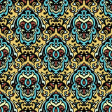 Vintage ethnic  damask seamless pattern background Stock Image